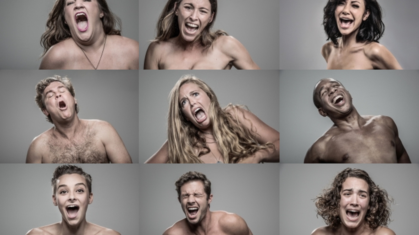 Slow motion video captures people's faces as they get hit with tasers