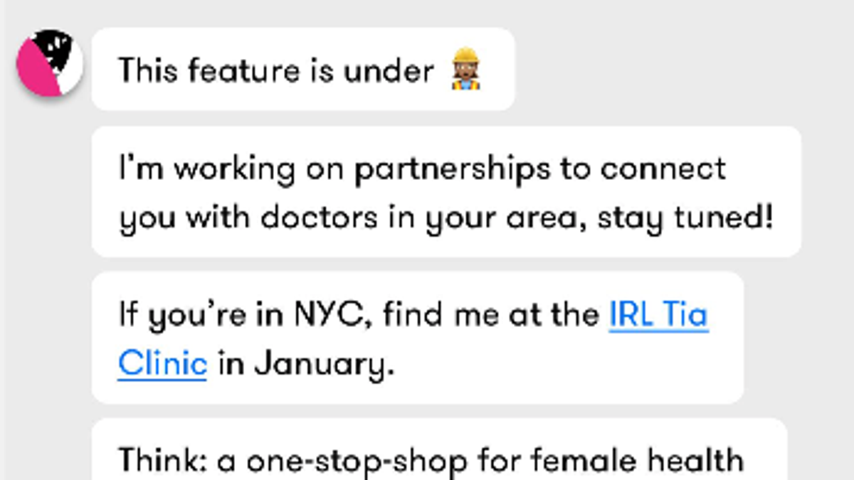 Tia, the Boutique Gyno, Wants a Whole Lot of Data About You and Your Vag