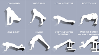Illustration for article titled This Interactive Guide Shows 100 Ways to Do Push-ups With Video