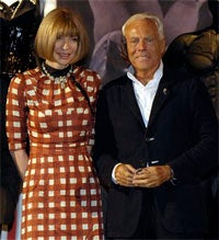 Illustration for article titled Giorgio Armani Insults Anna Wintour To Her Face