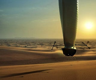 Illustration for article titled Aeolus Airship Concept Can Stay Aloft for Two Weeks
