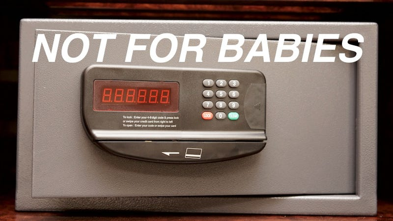 Illustration for article titled Maybe Don't Put Your Baby in the Hotel Safe?