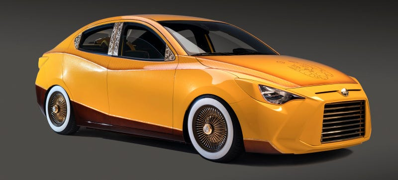 Illustration for article titled Scion Just Won SEMA Forever With This Ridiculous Lowrider