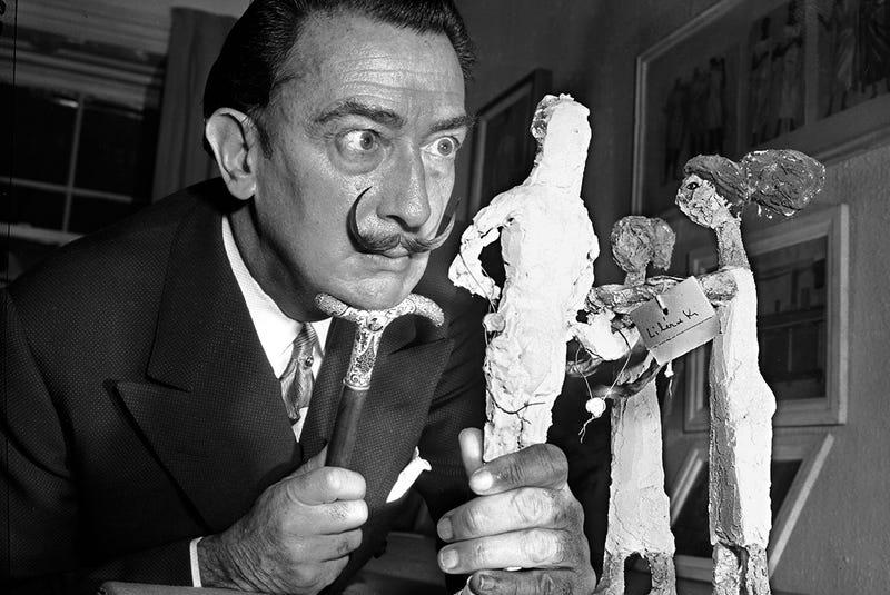 Salvador Dalí, en una imagen de 1956. Foto: AP