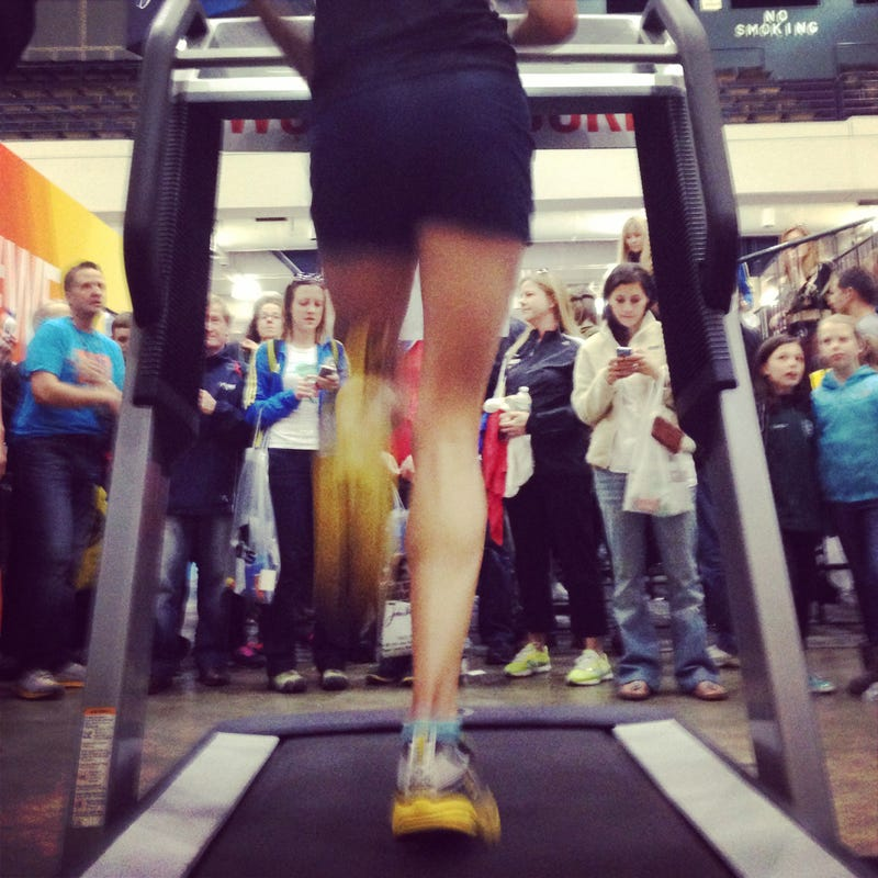 Illustration for article titled Women's Half Marathon World Record Smashed . . . On A Treadmill