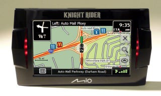 Illustration for article titled Knight Rider GPS With KITT's Voice!