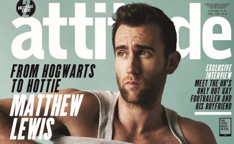 Illustration for article titled Neville Longbottom Is Now A Half-Naked Gay Magazine Cover Model