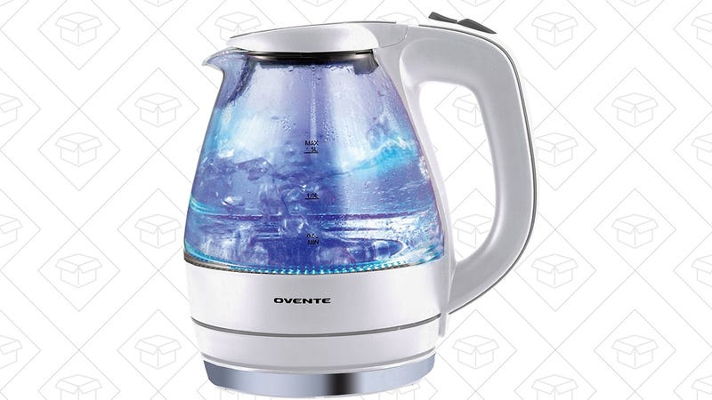 Ovente 1.5 Liter Cordless Electric Kettle, $20