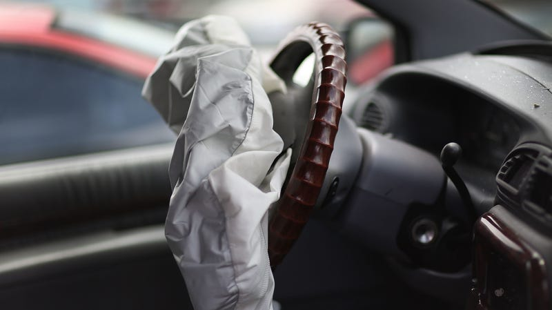 A Deployed Air Bag In Chrysler May Of 2017