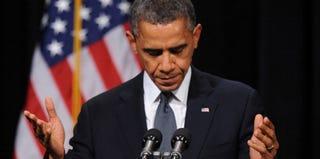 President Obama speaks at an interfaith vigil in Newtown, Conn. (Pool/Getty News)