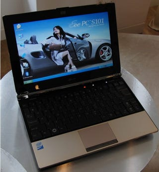 Illustration for article titled Hands On Asus Eee S101, Just as Slim and Air-y in Person