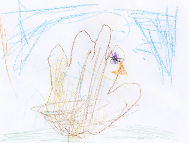 Illustration for article titled 6-Year-Old Shits Out Half-Assed Hand Turkey
