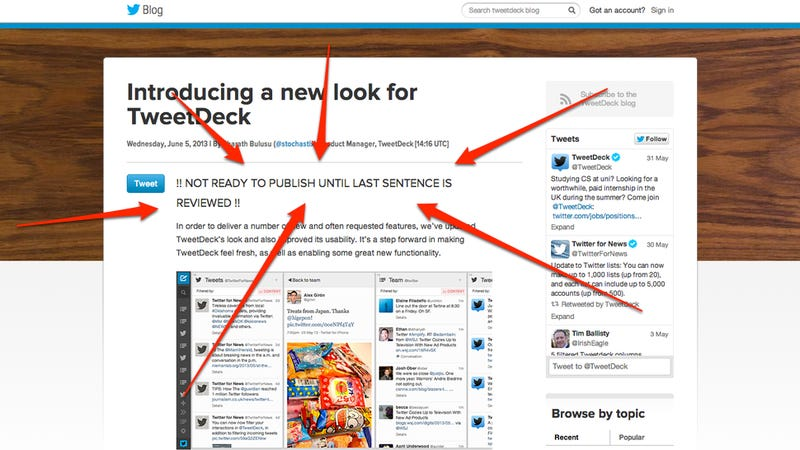 Illustration for article titled TweetDeck Redesign Hits a Tad Early, and Christina's Gonna Be Pissed
