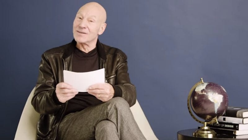 Illustration for article titled Patrick Stewart reads one-star reviews of world-famous monuments
