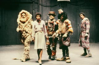 Cast of The Wiz in the 1978 film: Ted Ross, as the Cowardly Lion, Diana Ross as Dorothy, Nipsey Russel as the Tin Man, Michael Jackson as the Scarecrow and Richard Pryor as the WizIMDb