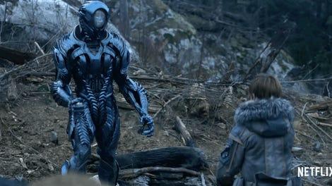 ผลการค้นหารูปภาพสำหรับ lost in space series scenes alien