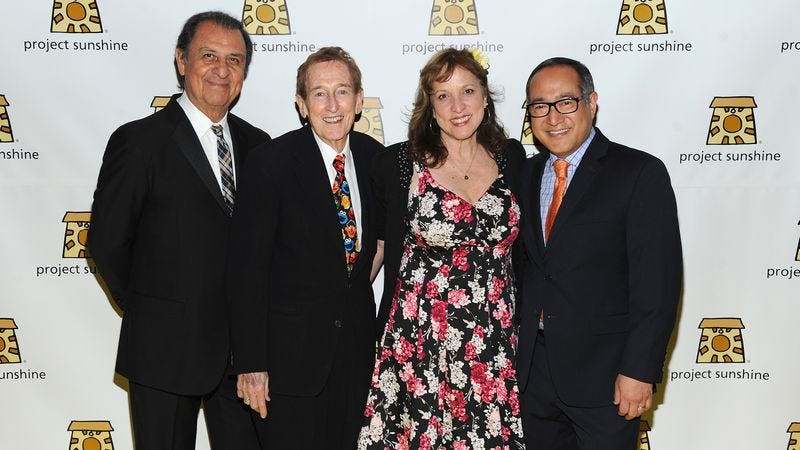 Emilio Delgado, Bob McGrath, Pam Arciero, and Alan Muraoka (Credit: Andrew Toth/Getty)