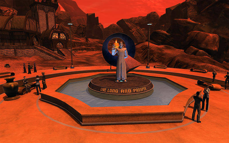 Illustration for article titled Star Trek Online's Memorial For Leonard Nimoy Is Here And Perfect