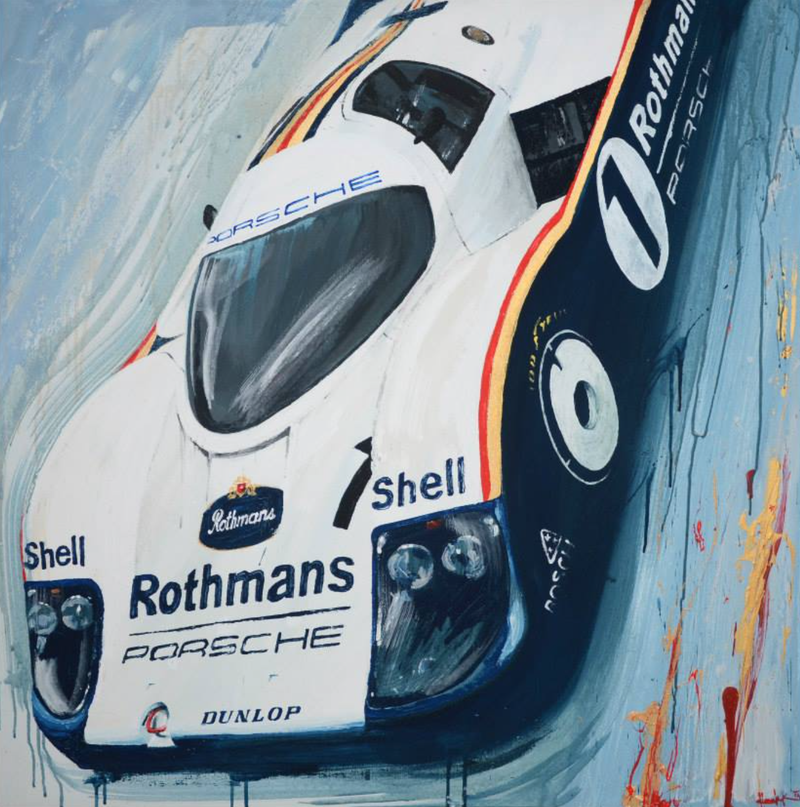 Illustration for article titled The most iconic race cars in history captured in beautiful paintings
