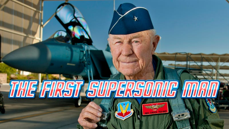 Illustration for article titled Chuck Yeager Breaks Speed of Sound Once Again—65 Years After His Historic Flight