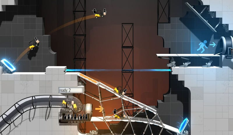 Illustration for article titled Portal Gets Its Own Bridge Building Game