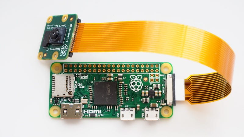 Illustration for article titled Raspberry Pi Zero Gets a Camera Connector, More Units Pushed Into Production to Meet Demand