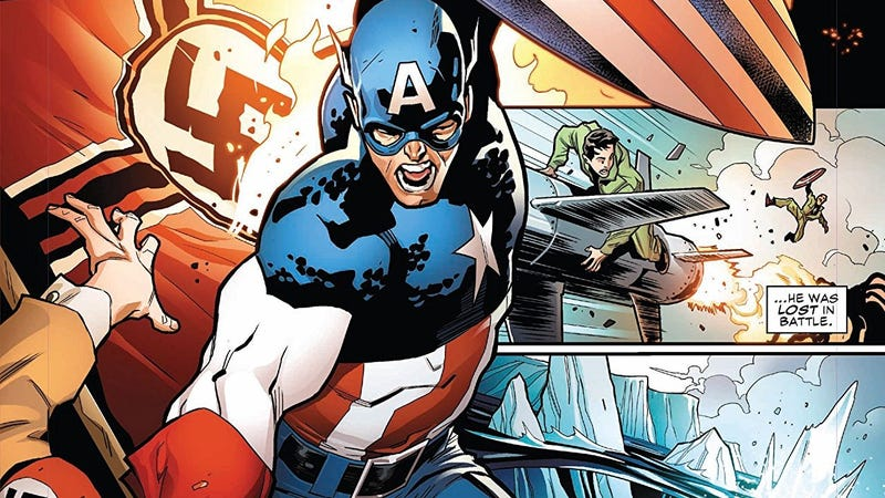 Hey, remember when Captain America punched Nazis, instead of both sides-stepping around them?