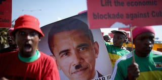 Demonstrations during President Obama's South Africa visit (Christopher Furlong/Getty Images)