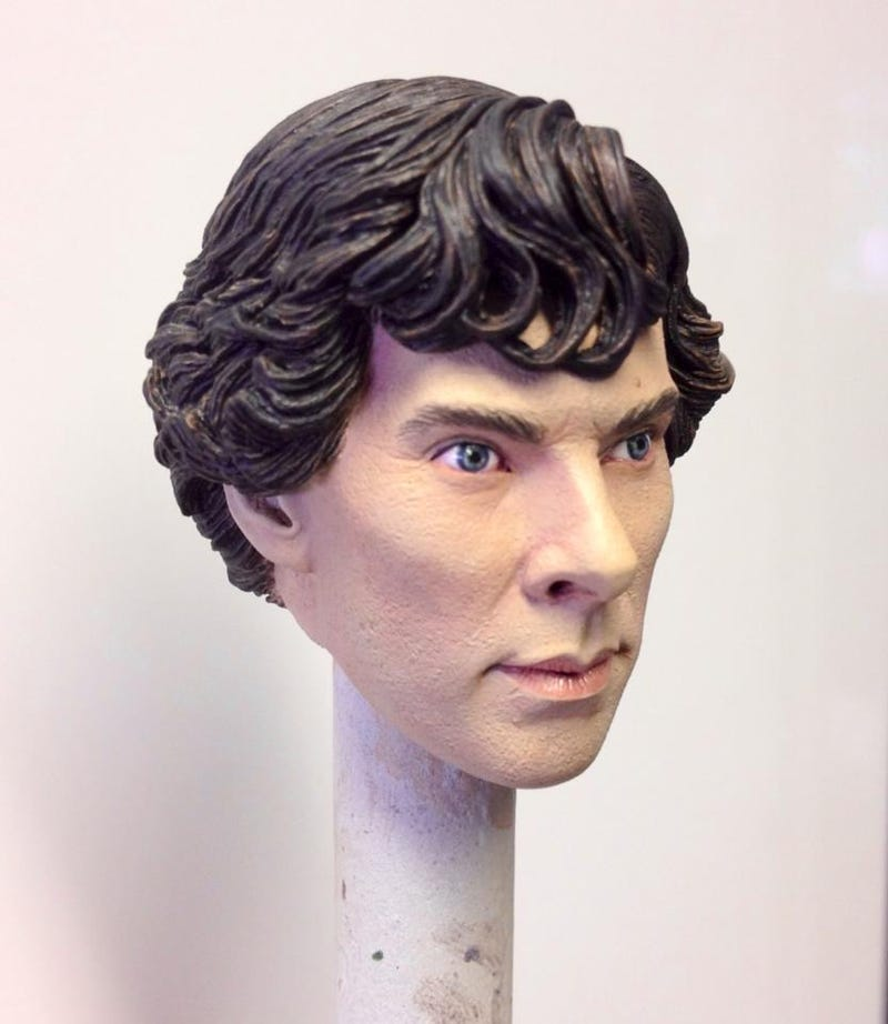 Illustration for article titled Here's Benedict Cumberbatch's head on a stick.