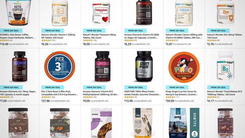Illustration for article titled Amazon's Most Random Prime Day Sale Includes Lots of Supplements, But Also Laundry Detergent