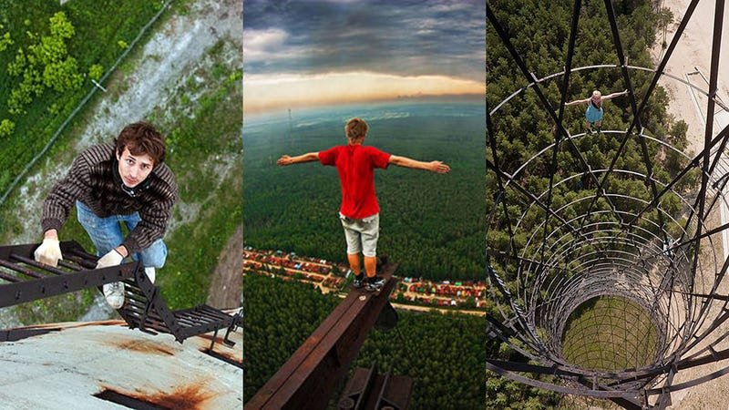 Illustration for article titled Skywalking: Russian Teens Risk Death for Daredevil Photos