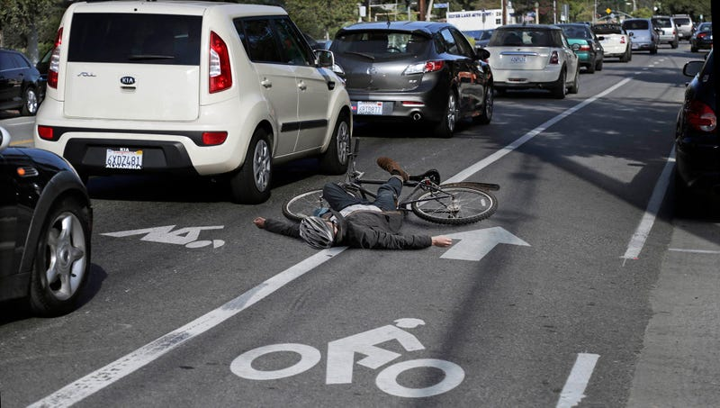 Illustration for article titled L.A. Adds Lanes For Cyclists To Recover From Getting Hit By Cars