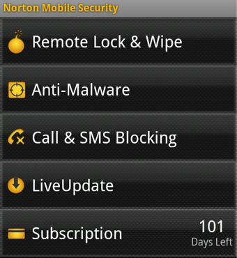 Illustration for article titled Norton Mobile Security Provides Remote Lock and Wipe, Malware Scanning for Android