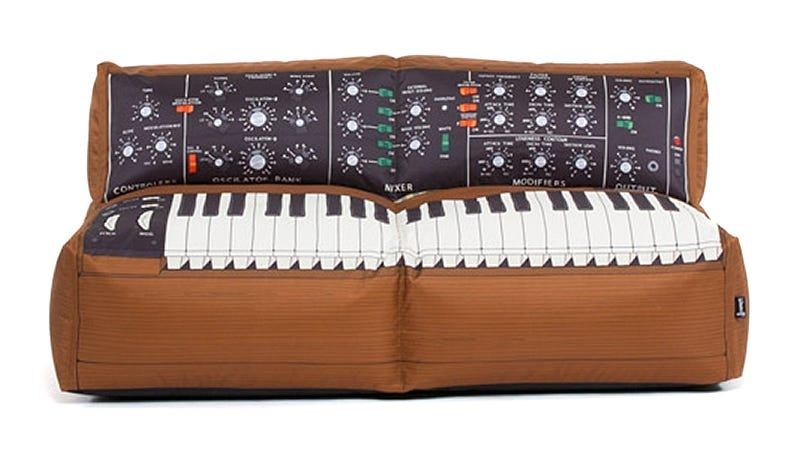 Illustration for article titled The Only Sounds Coming From This Minimoog Sofa Will Be Snores