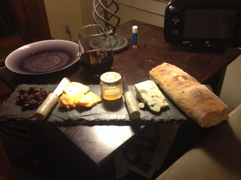 Illustration for article titled Behold the glory that is my Friday night cheese plate!