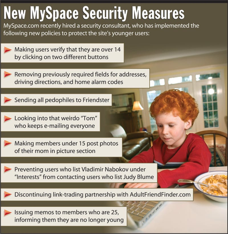 Illustration for article titled New MySpace Security Measures