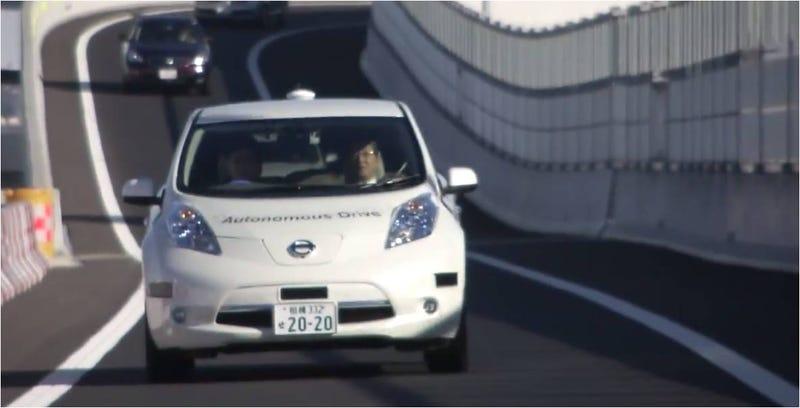 Illustration for article titled El coche autónomo de Nissan ya se prueba en las autopistas de Japón