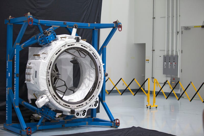 A version of the docking port adapter that will be delivered to the ISS. Image: NASA