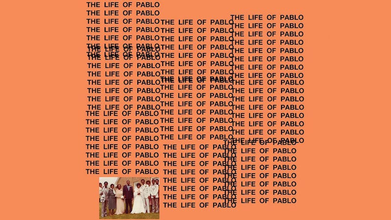 Image: Album art for The Life of Pablo
