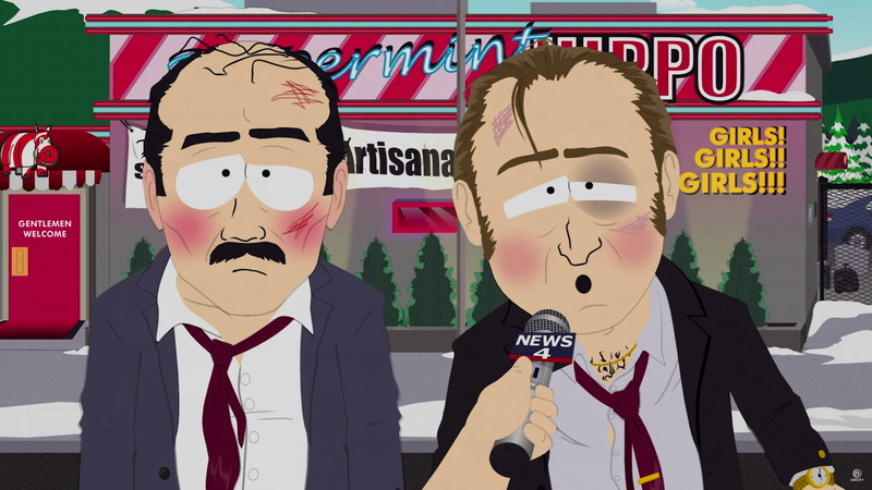 Above: Dramatic reenactment of Jason's South Park interview