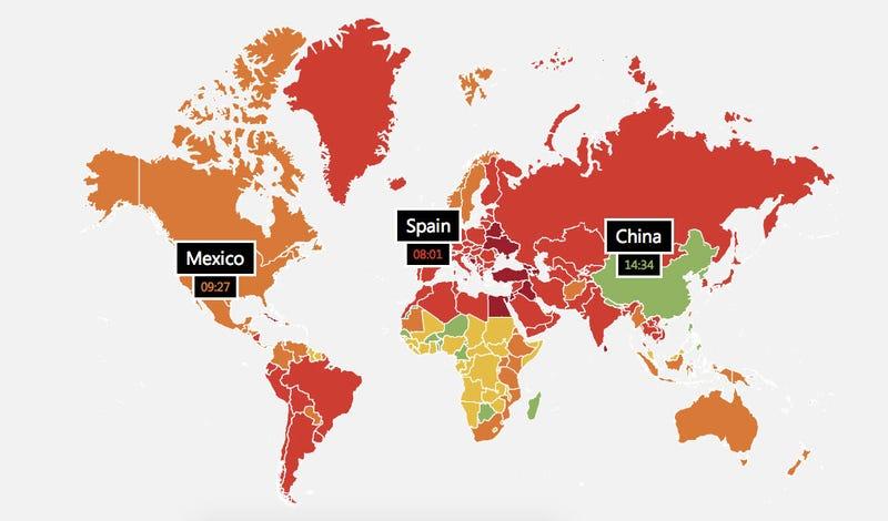 ¿Qué países duran más viendo porno en Internet?