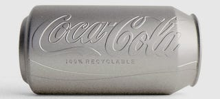 Illustration for article titled Colorless eco-friendly Coke can design is cooler than the real one