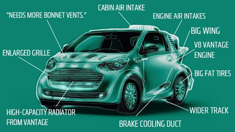 Illustration for article titled Aston Martin Says V12 Cygnet Rumors Are Untrue