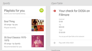 Illustration for article titled Google Now Gets Support for 70 New Apps, Including Spotify and OpenTable
