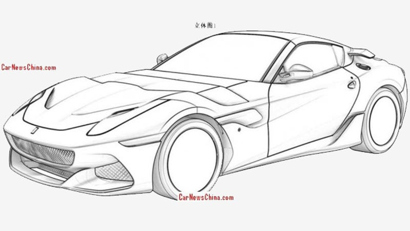 Illustration for article titled This Is Not The Ferrari F12 GTO