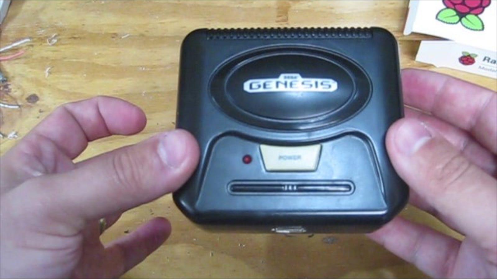 Cram A Raspberry Pi Game Emulator Into A Micro Sized Sega
