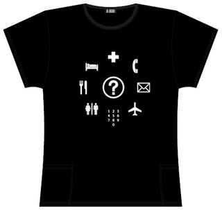 Illustration for article titled Travelers Phrasebook T-Shirt Lets Your Chest Do the Talking
