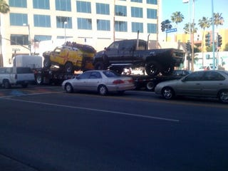 Illustration for article titled Ratchet, Ironhide Spotted; Transformers 2 Filming In Arizona?
