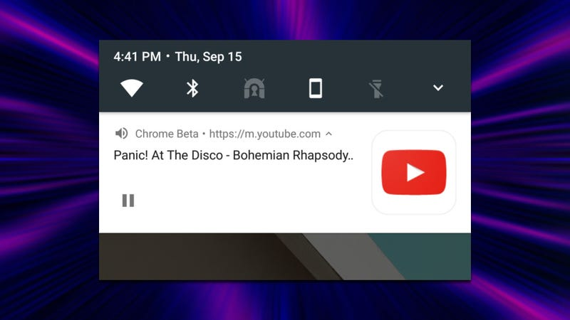 Illustration for article titled Chrome Beta 54 Now Lets You Play Video In the Background On Android