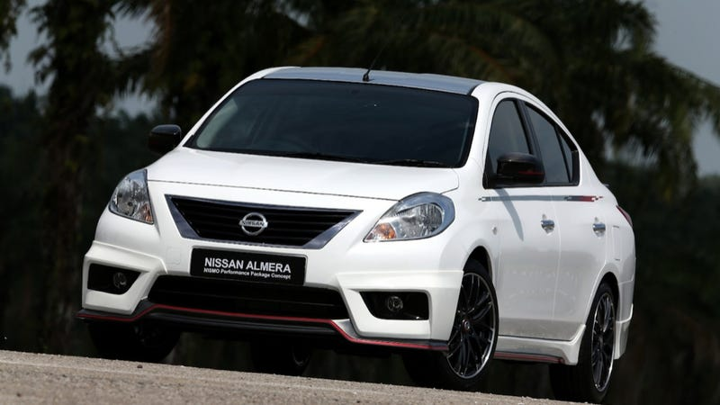 Illustration for article titled The Nissan Versa Nismo Is A Lukewarm Malaysian Performance Sedan
